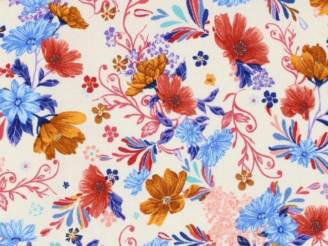 Flower Garden - Floral (Cream)