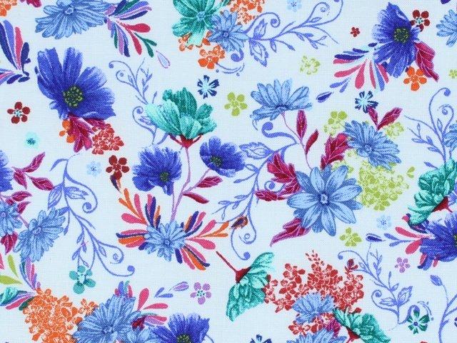 Flower Garden - Floral (Turquoise)