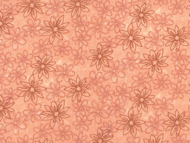 Sketched Floral 108 WIDE (Coral)