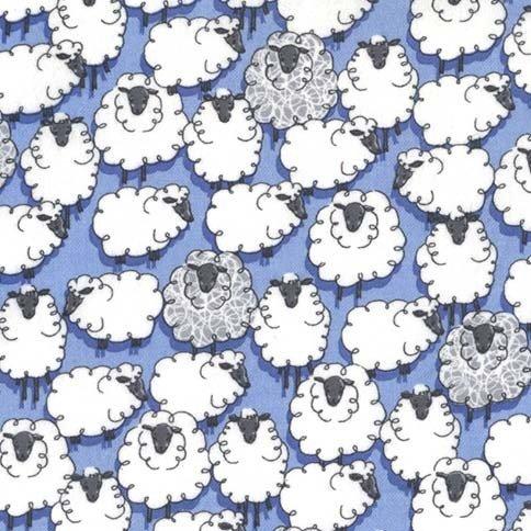 Sheepish on Flannel (Blue)