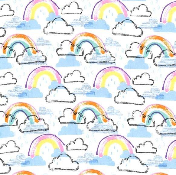 Rainbow Jubilee on Flannel (Pastel)