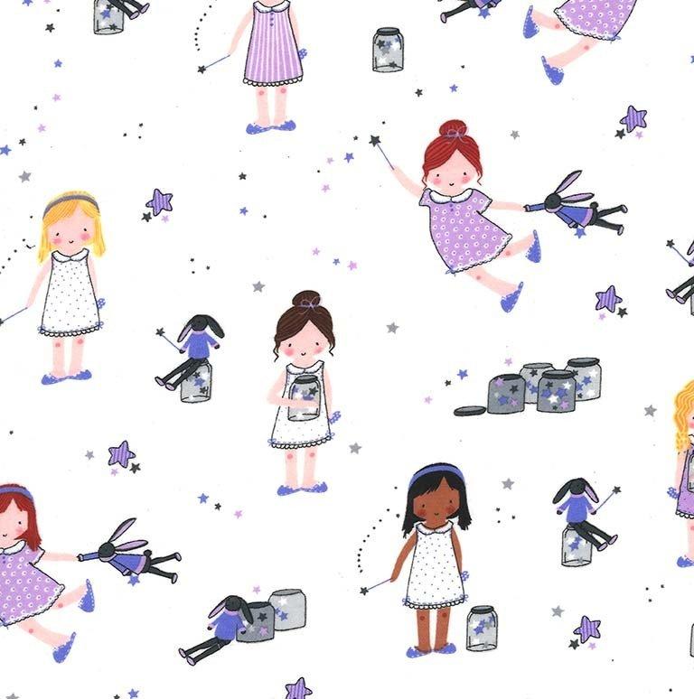 Sprinkle Sprinkle Little Stars on Flannel (Twilight)