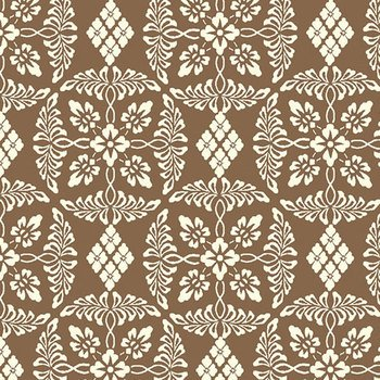 Chocolate and Cherry - Damask (Lt Brown)