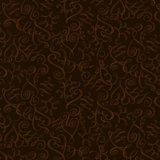 Cinnamon Toast - Swirly (Dark Brown)