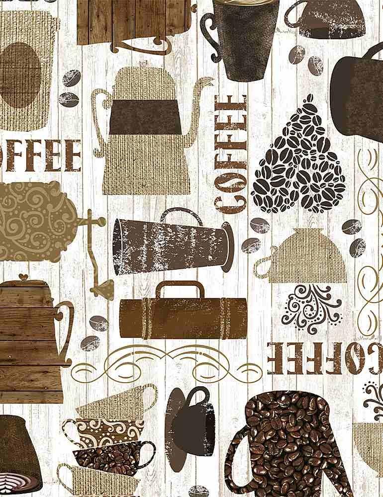 *Kitschy Coffee Motifs (Brown)