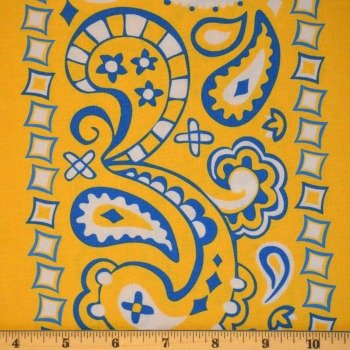 Cuteville County Fair - Bandana Border (Yellow/Blue)