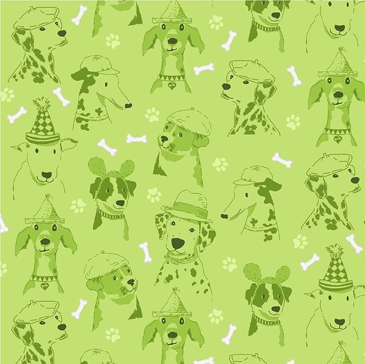 Canine Expressions (Green)