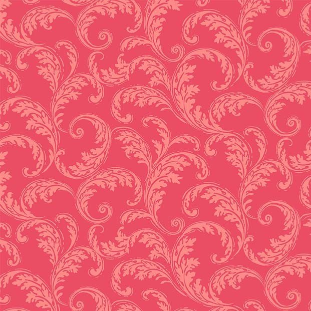 French Scroll (Red)