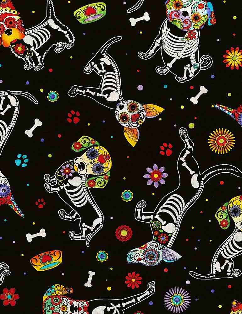 *Day of The Dead Dogs (Black)