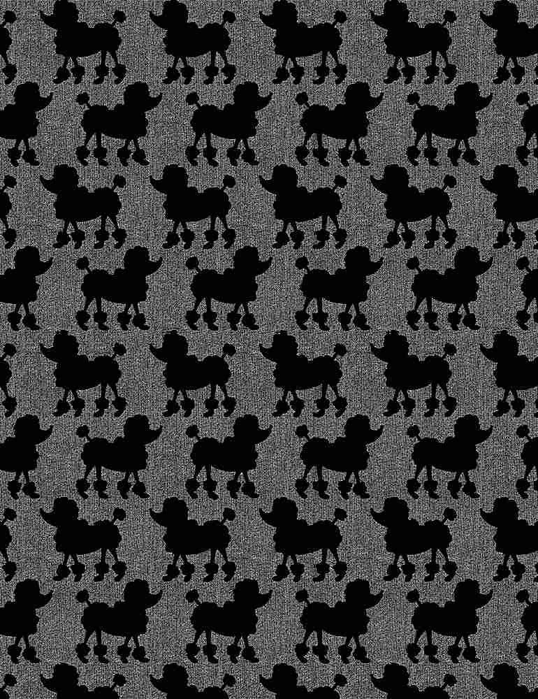 *Parisian Poodles On Textured Ground (Gray)