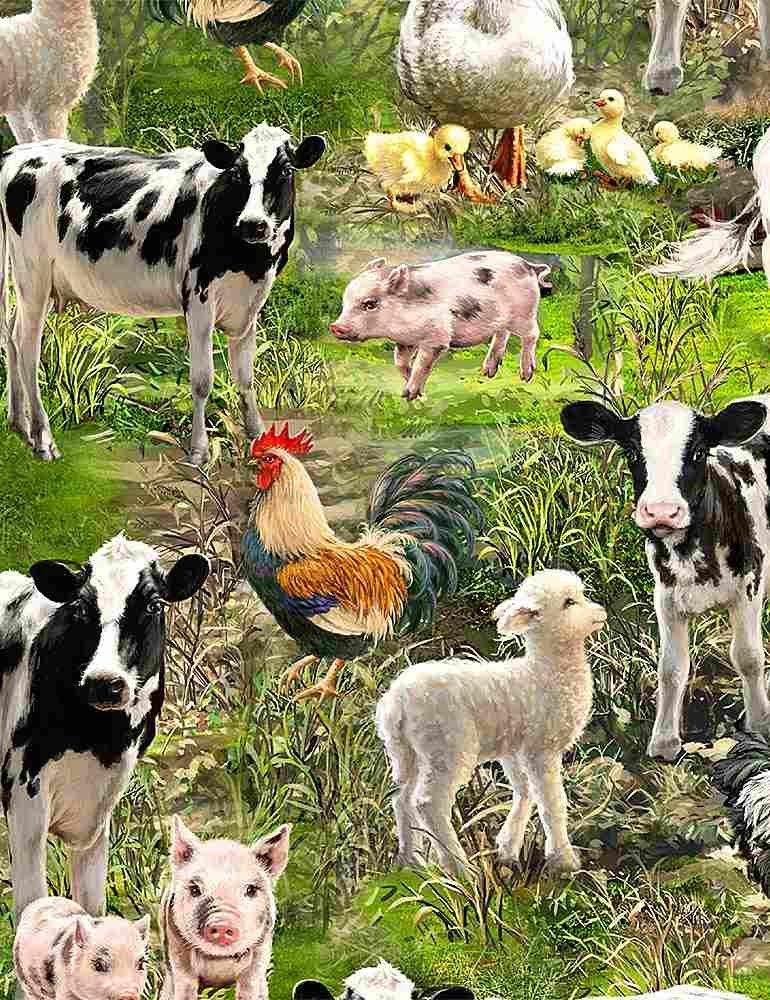*Allover Farm Animals (Multi)