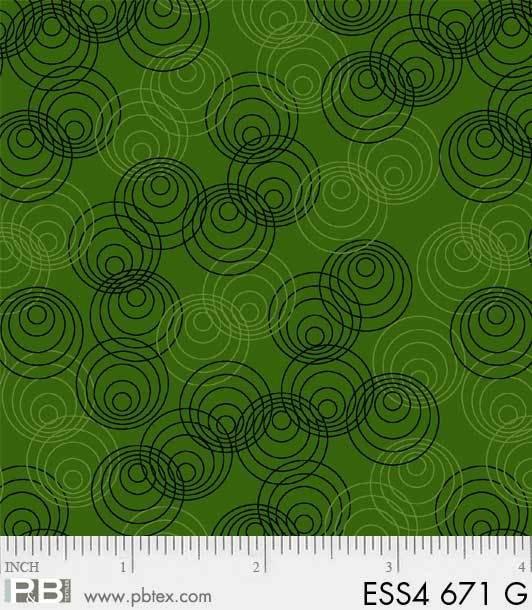 Bear Essentials 4 - Allover Circles (Green)