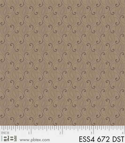 Bear Essentials 4 - Small Swirls (Dk Mauve)