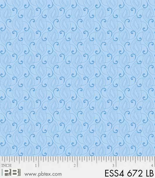 Bear Essentials 4 - Small Swirls (Light Blue)