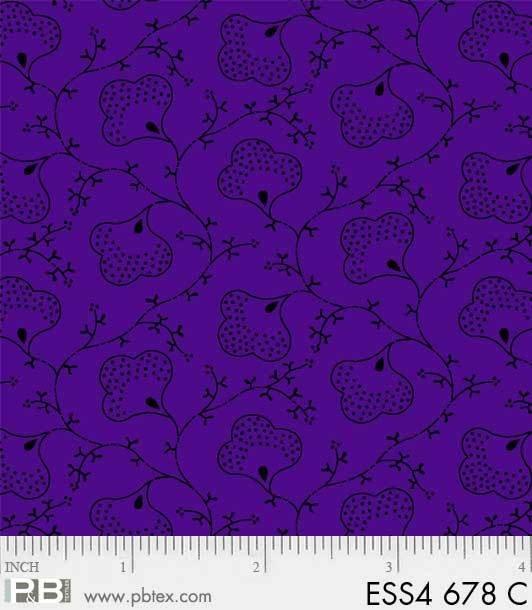 Bear Essentials 4 - Floral (Royal Purple)