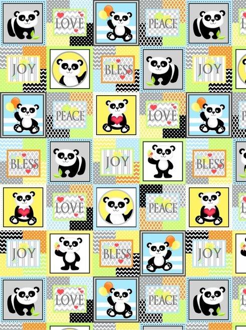 Panda-Monium Flannel -Panda Patch (Multi)