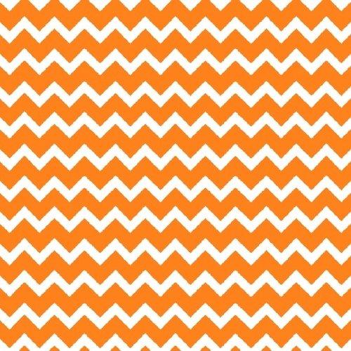 Panda-Monium Flannel - Zig Zag (Orange)