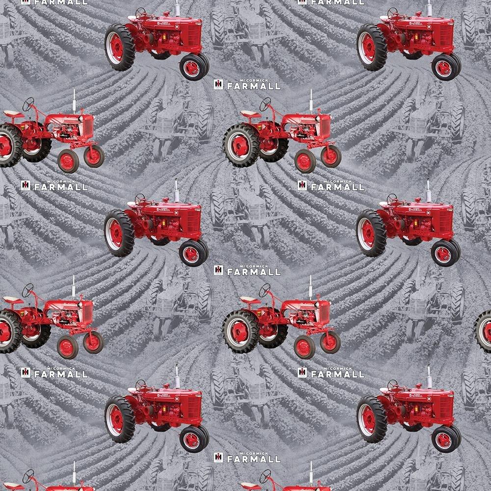 Farmall Tractor - Farmall Fields (Grey)