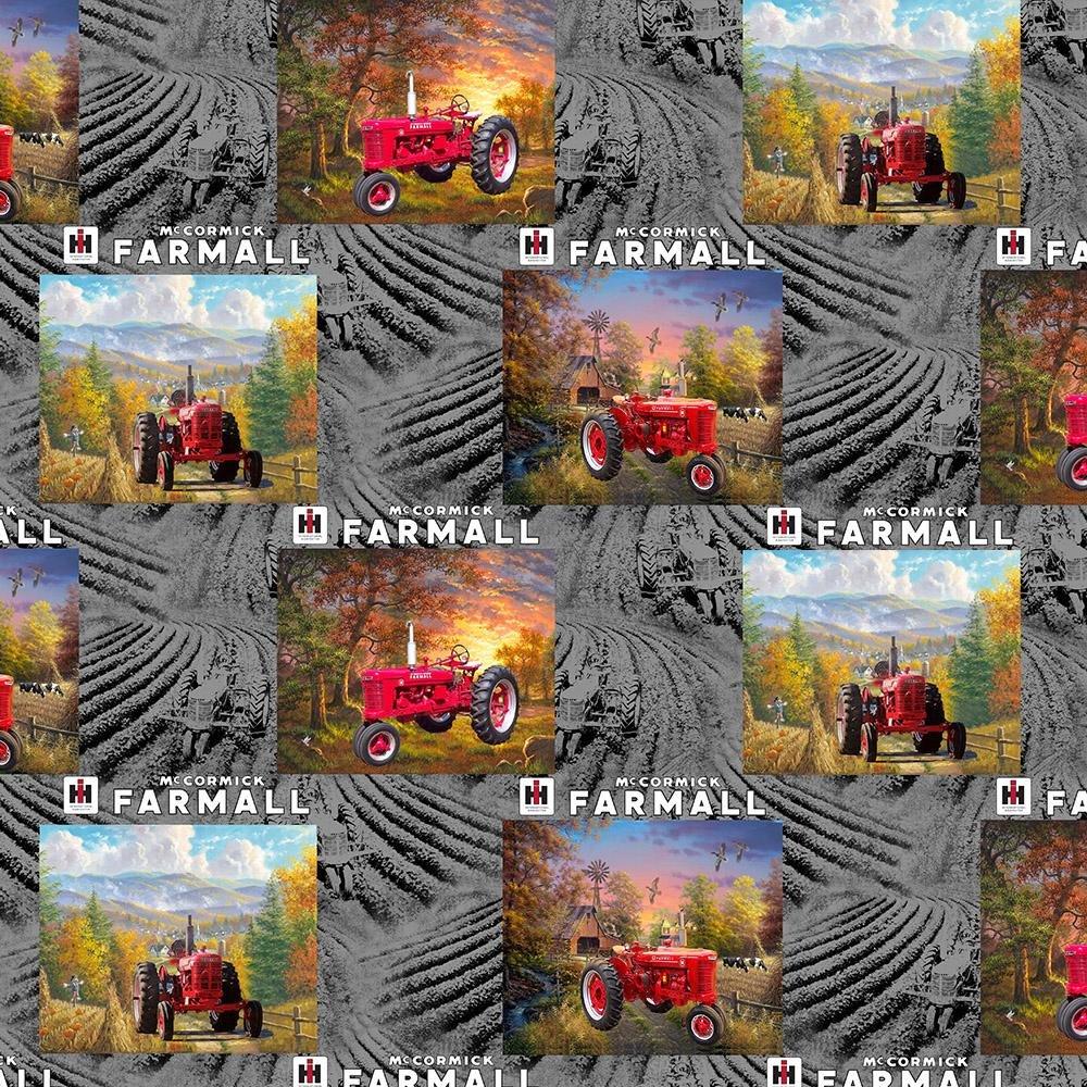 Farmall Tractor - Farmall Patch (Grey)