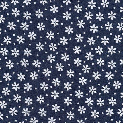Cozy Cotton Flannel - (Navy)