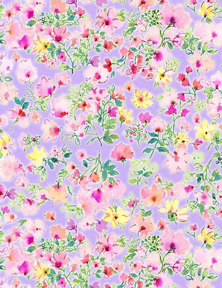 *Watercolor Pink Spring Floral (Lavender)
