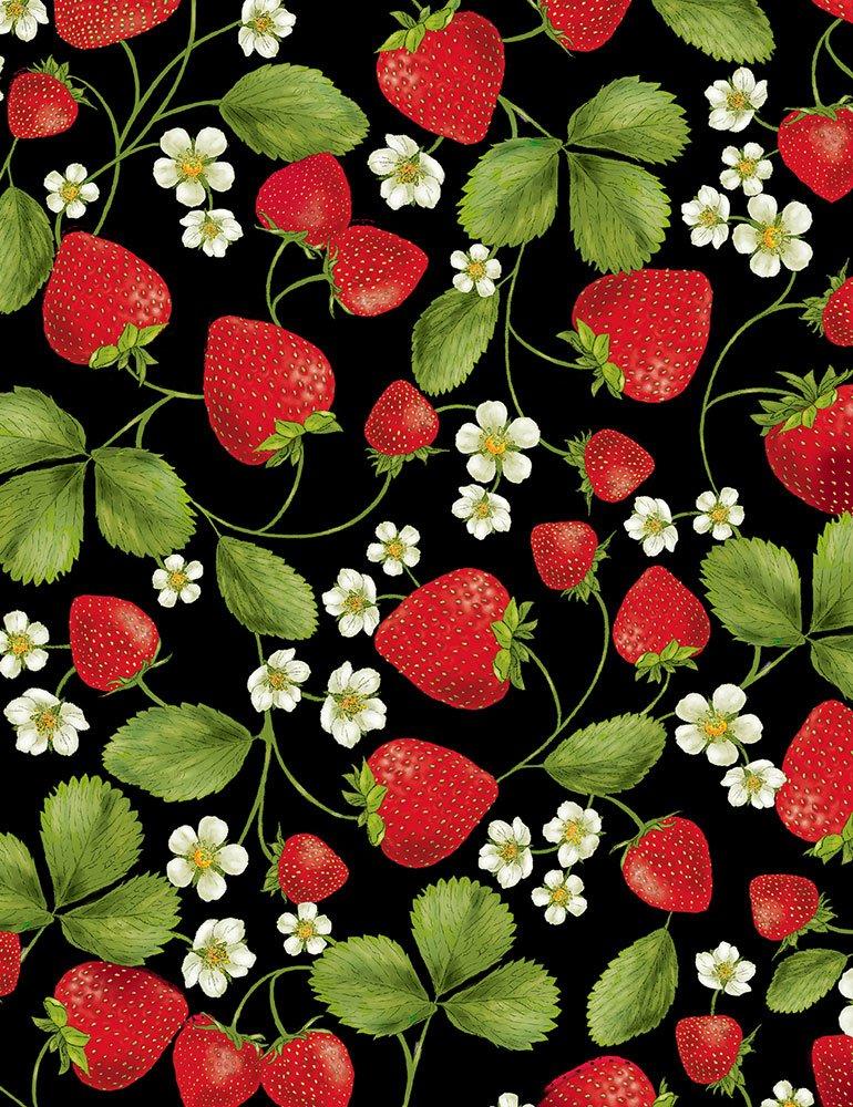 *Strawberry Vines (Black)