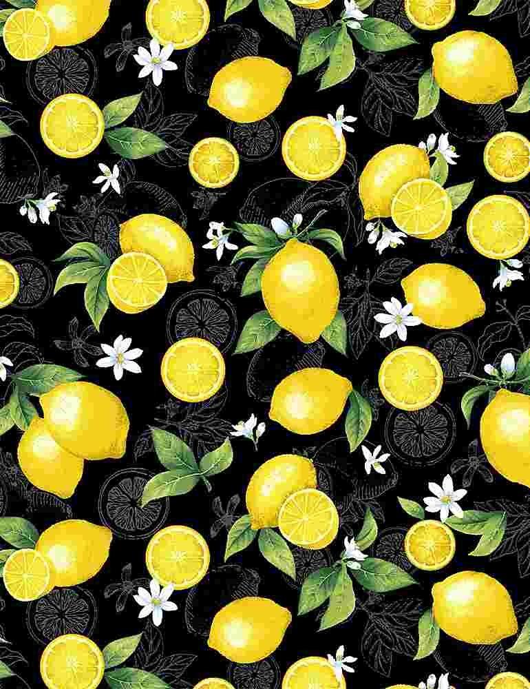 *Medium Etched Lemons (Black)