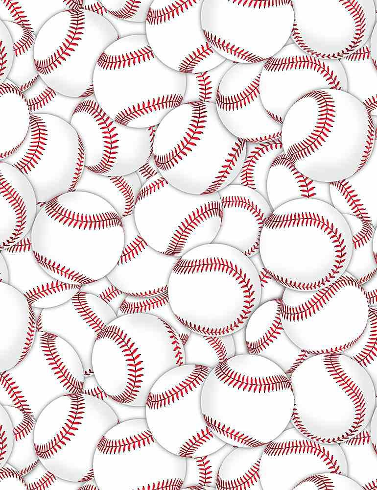 *Packed Baseballs (White)