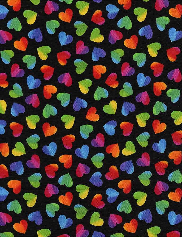 *Large Ombre Hearts (Black)