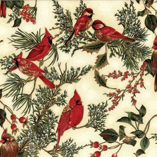 Winter Magic - Metallic Cardinals (Natural/Gold)