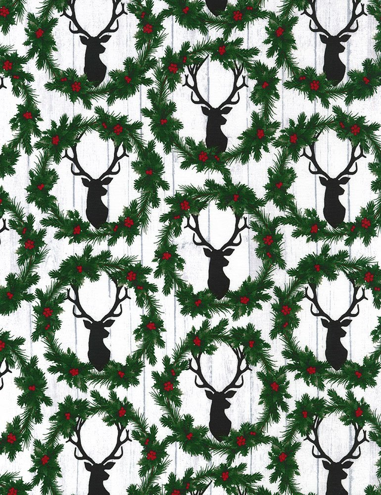 Holiday - Deer Heads and Wreaths