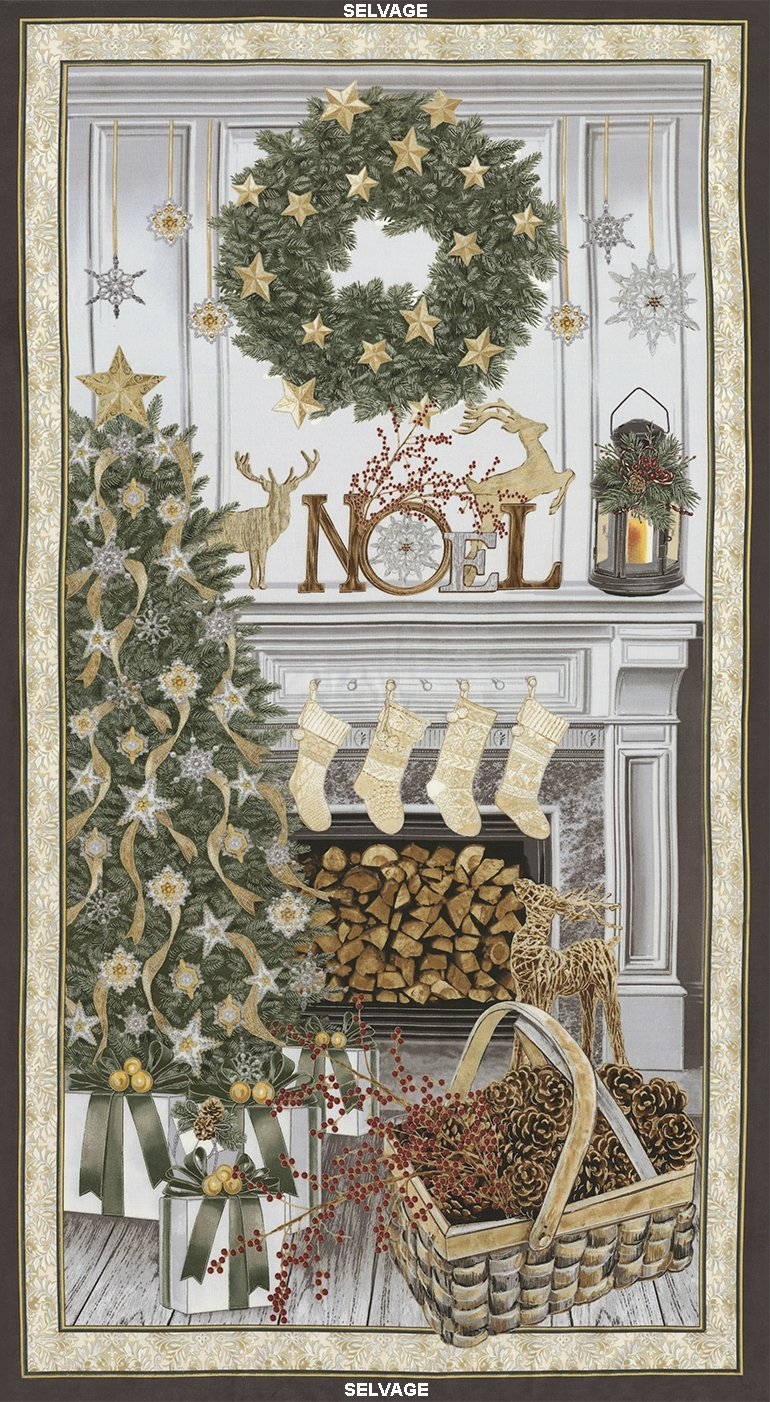 Holiday 23 Noel Mantel Panel (Metallic)