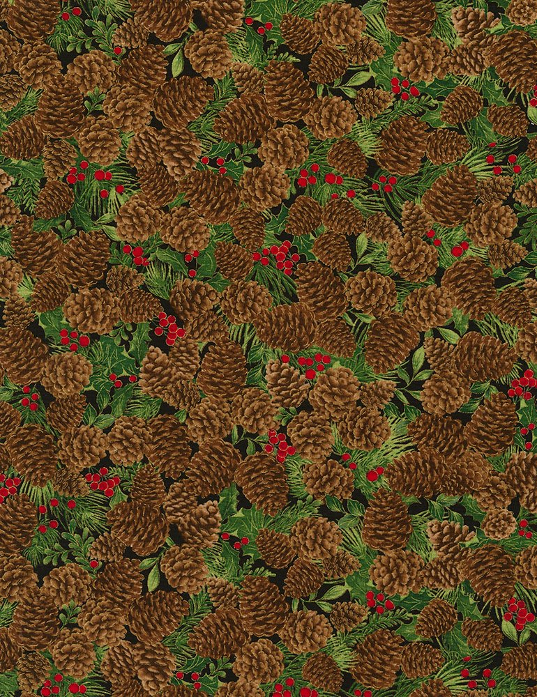Holiday - Pinecones (Metallic)