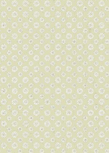 Sew Vintage - Raining Daisies (Light Grey)