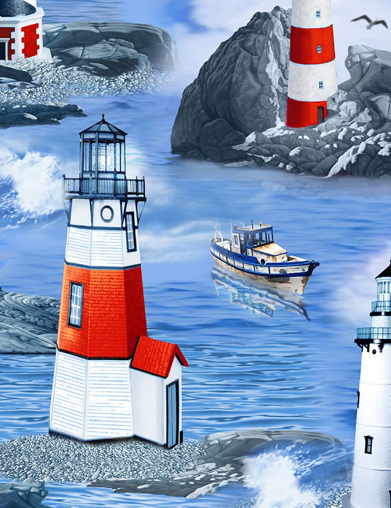 *Light Houses (Blue)
