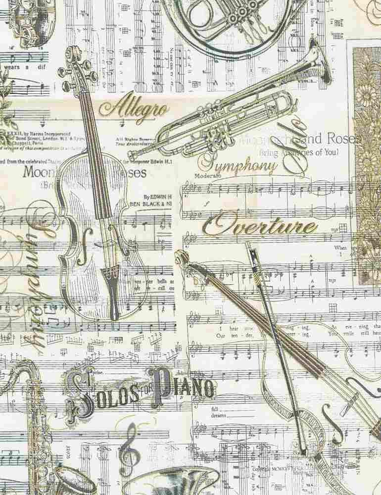 *Musical Patchwork Metallic (Antique)