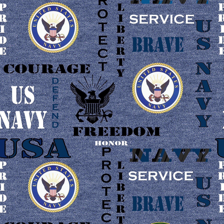 Military Prints - Navy Logo (Heather)