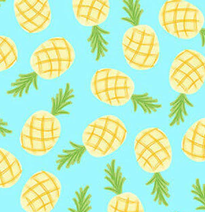 Let's Flamingle - Pineapples (Aqua)
