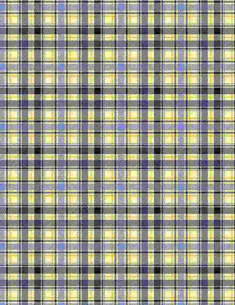 *Yellow And Blue Plaid
