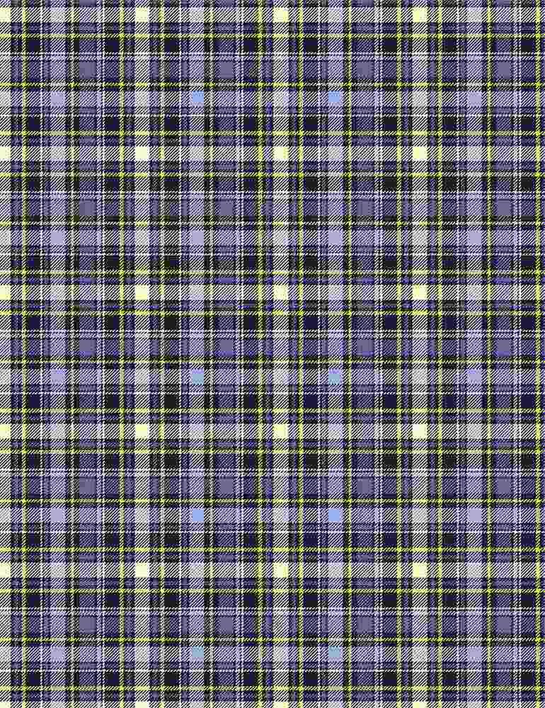 *Blue Star Plaid
