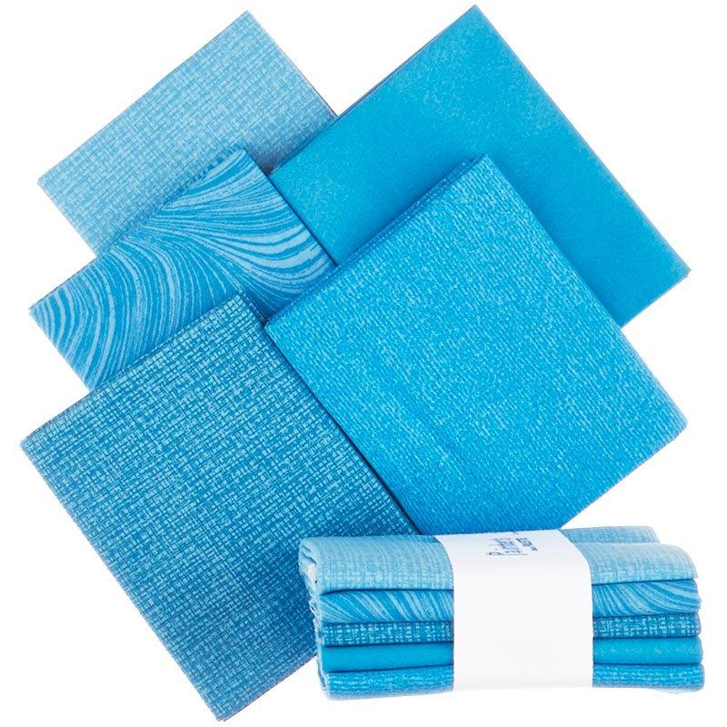 Painter's Palette (5 Piece) Fat Quarter Bundle (Blue)
