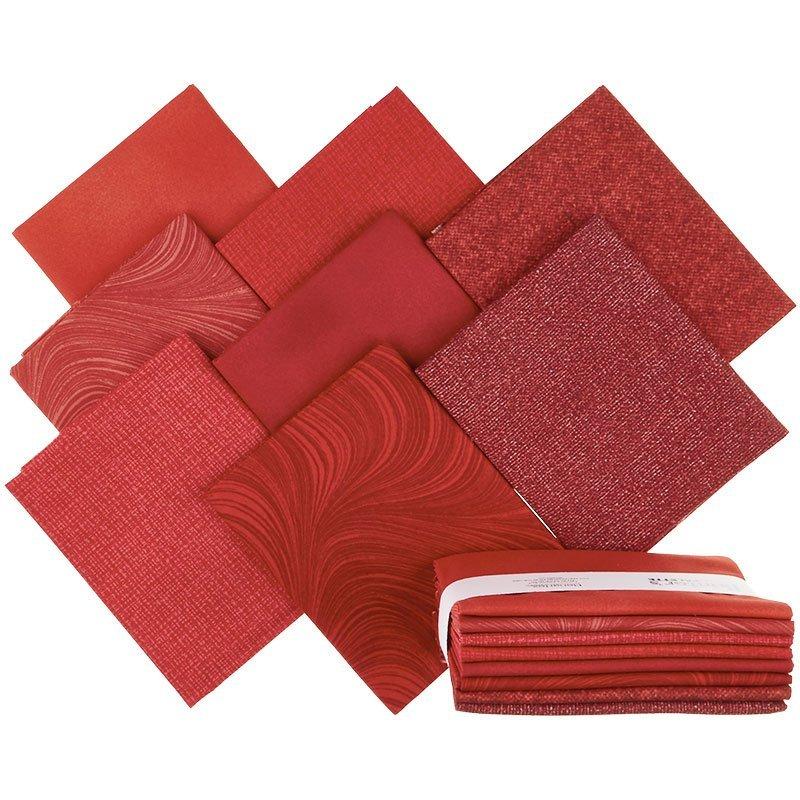 Painter's Palette (8 Piece) Fat Quarter Bundle (Red)