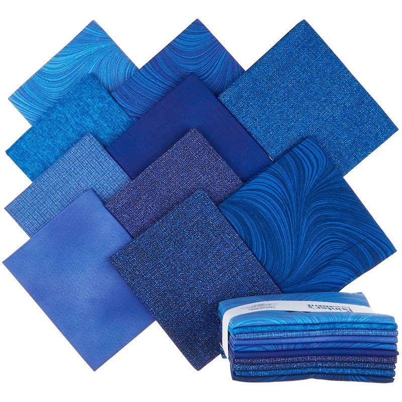Painter's Palette (10 Piece) Fat Quarter Bundle (True Blue)