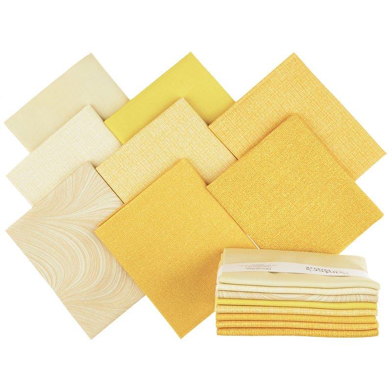 Painter's Palette (8 Piece) Fat Quarter Bundle (Yellow)