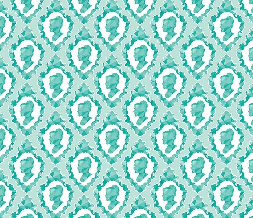 Ardently Austen - Silhouette (Teal)