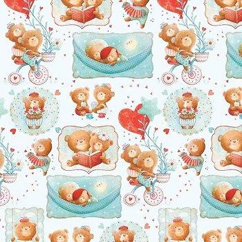 *Puffy Teddy - Vignettes (Blue)