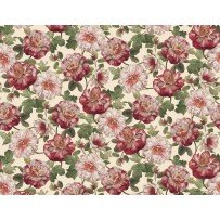Romantic Afternoon Flannel - Lg. Floral  (Ivory)