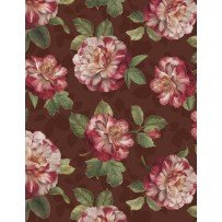 Romantic Afternoon Flannel - Med. Floral (Burgundy)