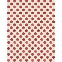 Romantic Afternoon Flannel - Dots (Ivory/Red)