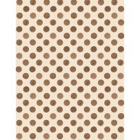 Romantic Afternoon Flannel - Dots (Tan/Brown)